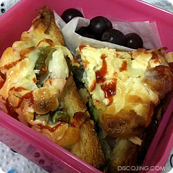 Pizza Bread & Grapes