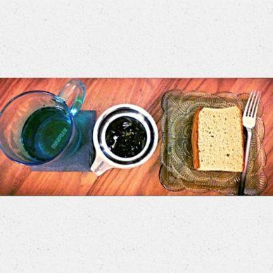Tea, Wet Leaves, Green Tea Cake