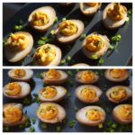 Sriracha and Wasabi Deviled Eggs from Food & Wine