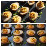 Sriracha and Wasabi Deviled Eggs from Food & Wine