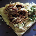 Sausage, Mushroom, and Goat Cheese Flatbread