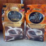 Seasonal Fall Godiva Coffee – Caramel Pecan Bark & Pumpkin Spice