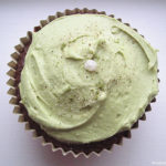 Chocolate Espresso Cupcakes with Adzuki Filling and Matcha Cream Cheese Frosting
