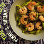Thai Basil Pesto Pasta with Shrimp