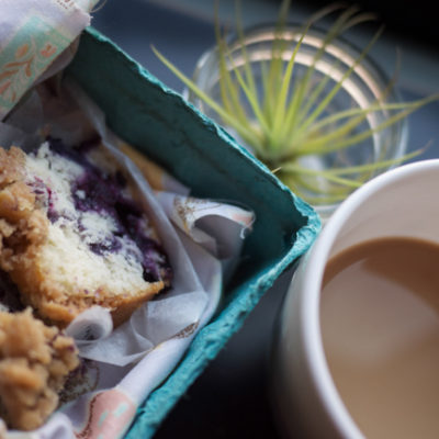 PYO at Hartland Orchards: Blueberry Coffee Cake