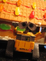 Wall-E and the Gingerbread House